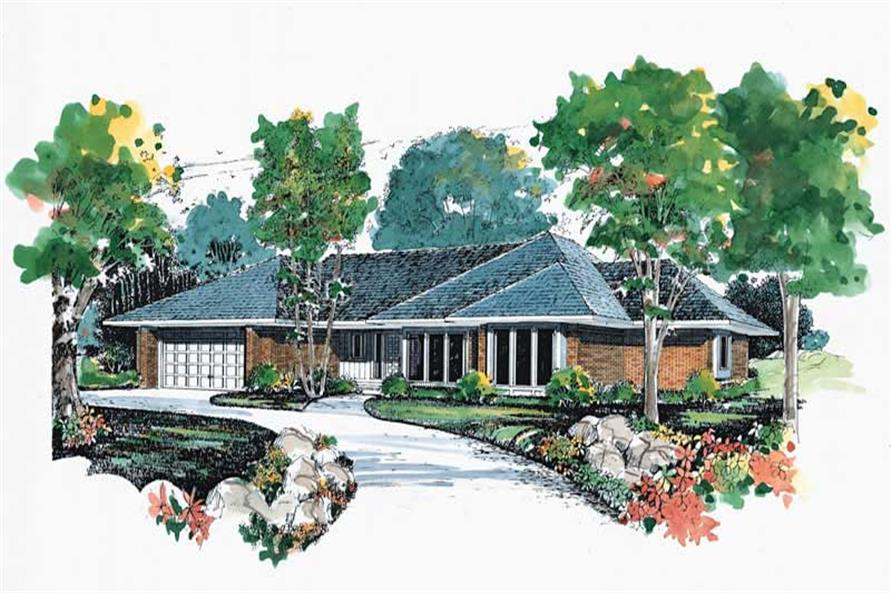 Ranch home (ThePlanCollection: Plan #137-1616)