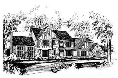 4-Bedroom, 4997 Sq Ft European House Plan - 137-1617 - Front Exterior