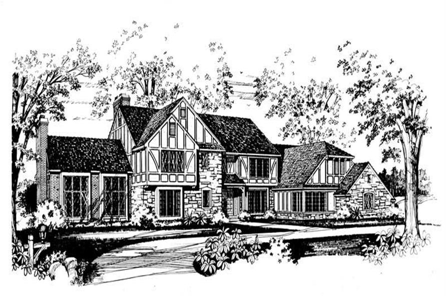 4-Bedroom, 4997 Sq Ft European House Plan - 137-1617 - Front Exterior