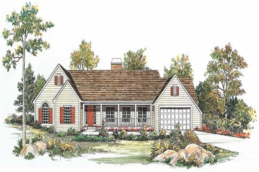 4-Bedroom, 2549 Sq Ft Country House Plan - 137-1620 - Front Exterior