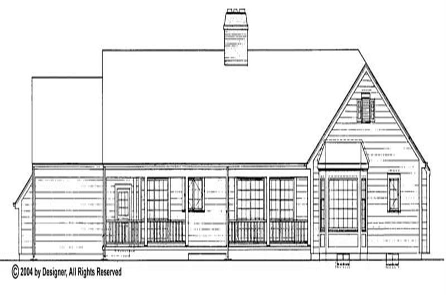 Home Plan Rear Elevation of this 4-Bedroom,2549 Sq Ft Plan -137-1620
