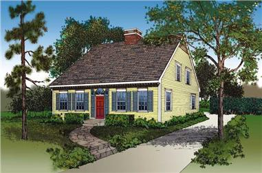3-Bedroom, 1646 Sq Ft Cape Cod House Plan - 137-1624 - Front Exterior