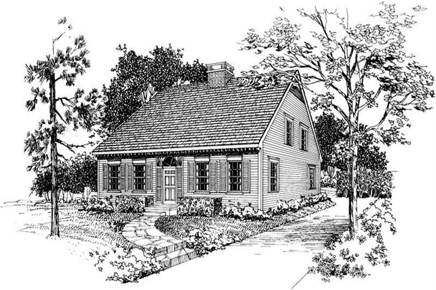 Home Plan Front Elevation of this 3-Bedroom,1646 Sq Ft Plan -137-1624