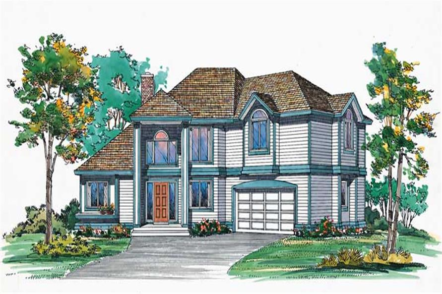 3-Bedroom, 2419 Sq Ft Transitional House Plan - 137-1625 - Front Exterior