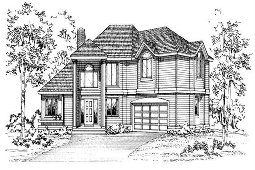 Home Plan Rendering of this 3-Bedroom,2419 Sq Ft Plan -137-1625