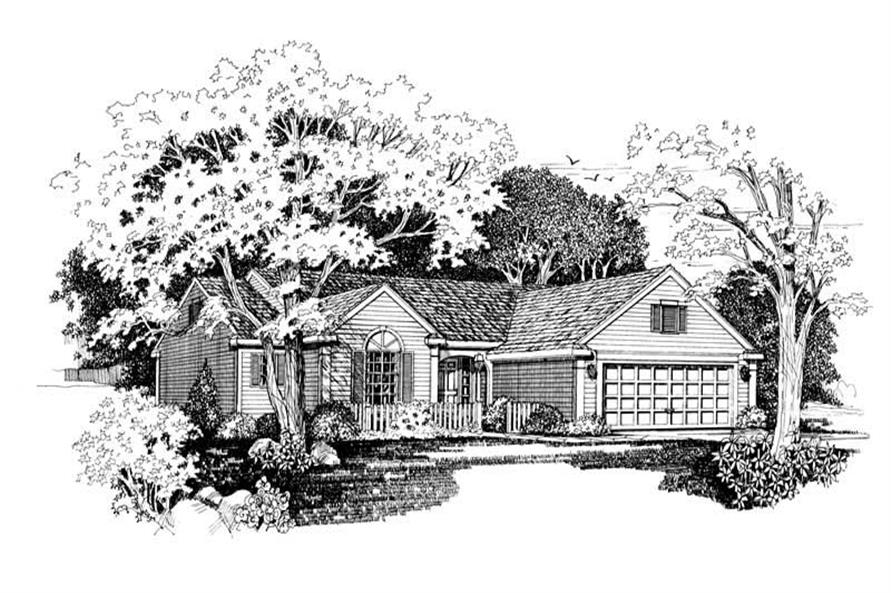 3-Bedroom, 1970 Sq Ft Country House Plan - 137-1626 - Front Exterior