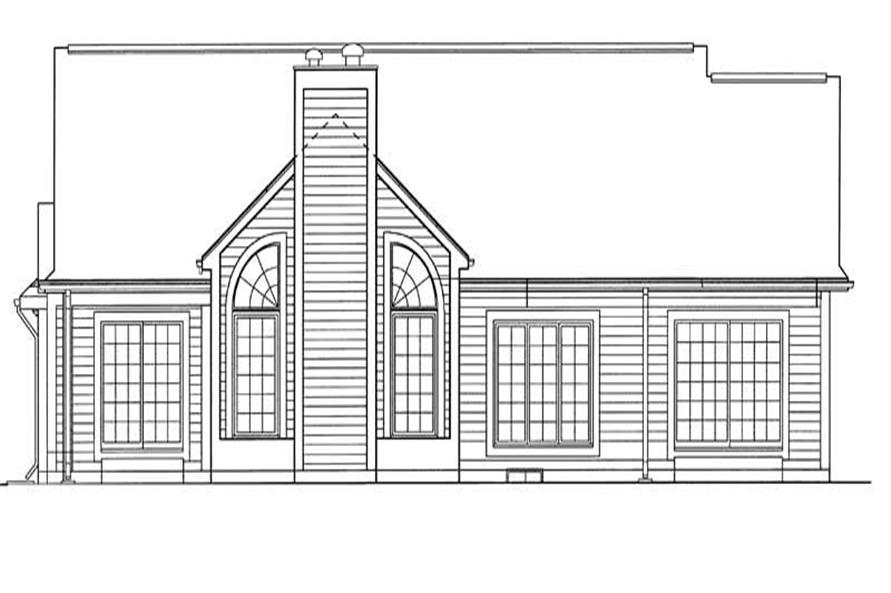 Home Plan Rear Elevation of this 3-Bedroom,1970 Sq Ft Plan -137-1626