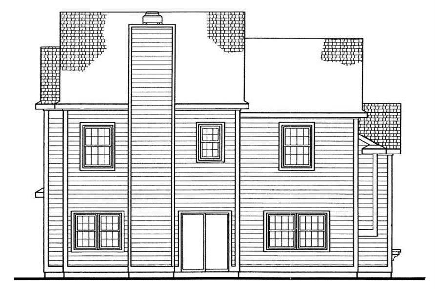 Home Plan Rear Elevation of this 2-Bedroom,2008 Sq Ft Plan -137-1627