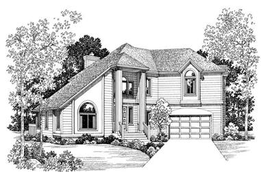 3-Bedroom, 2733 Sq Ft Contemporary House Plan - 137-1628 - Front Exterior