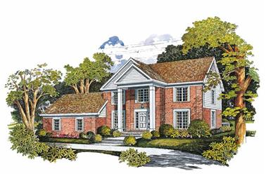 4-Bedroom, 2700 Sq Ft Colonial House Plan - 137-1629 - Front Exterior