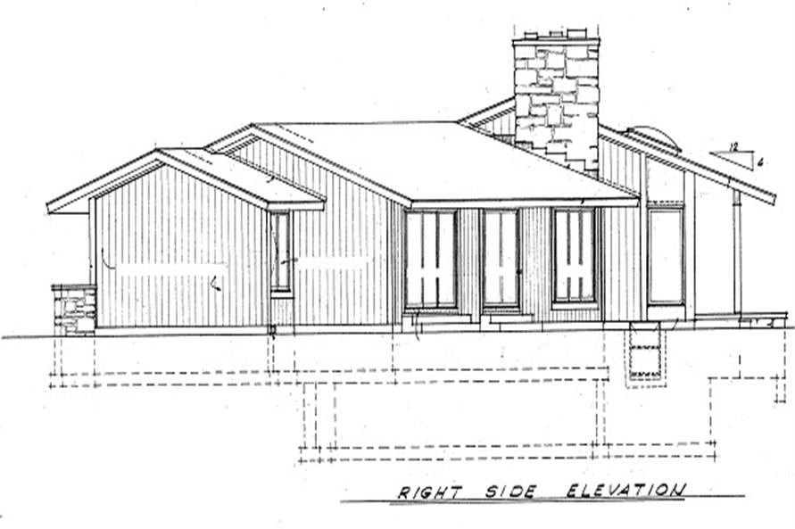 Home Plan Right Elevation of this 3-Bedroom,2459 Sq Ft Plan -137-1630