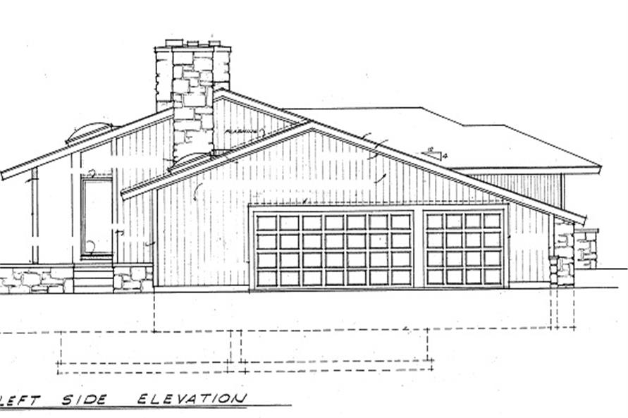 137-1630: Home Plan Left Elevation