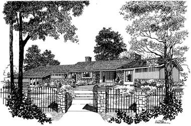 3-Bedroom, 2459 Sq Ft Ranch Home Plan - 137-1630 - Main Exterior