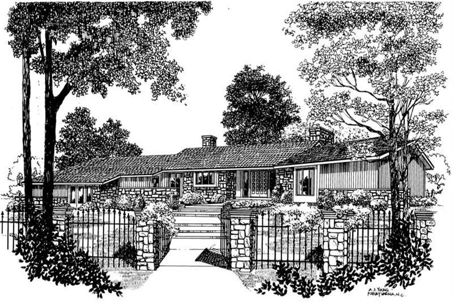 3-Bedroom, 2459 Sq Ft Ranch Home Plan - 137-1630 - Main Exterior