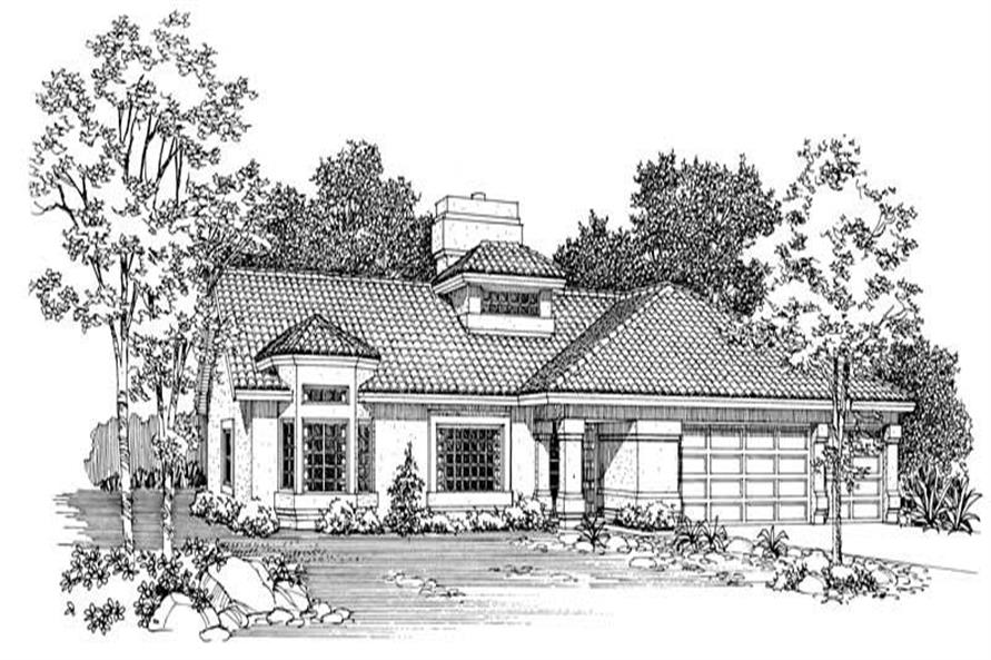 Home Plan Rendering of this 3-Bedroom,2145 Sq Ft Plan -137-1634