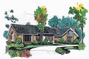 4-Bedroom, 3548 Sq Ft Contemporary House Plan - 137-1635 - Front Exterior