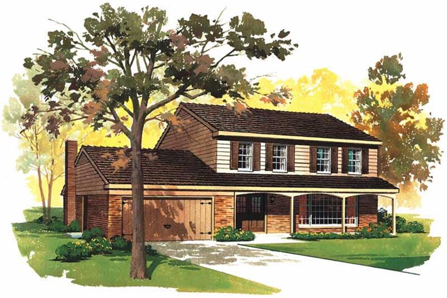 4-Bedroom, 1822 Sq Ft Country Home Plan - 137-1638 - Main Exterior