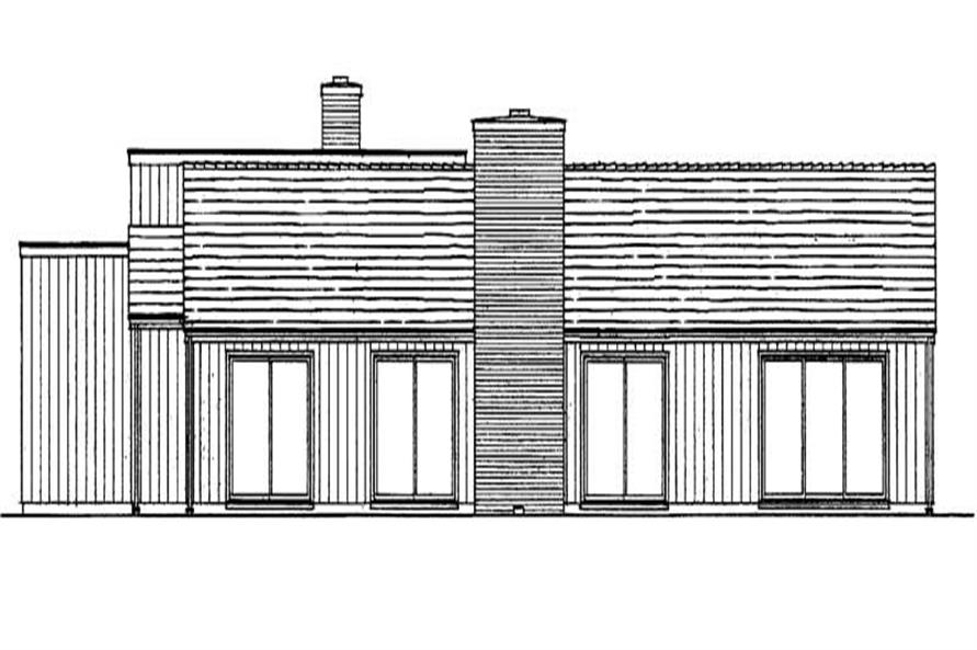 Home Plan Rear Elevation of this 4-Bedroom,2495 Sq Ft Plan -137-1643