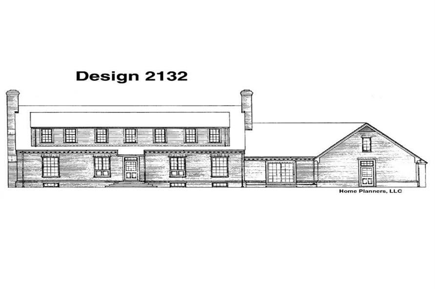 Home Plan Rear Elevation of this 3-Bedroom,3263 Sq Ft Plan -137-1645