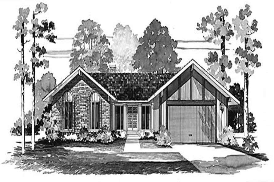 3-Bedroom, 1754 Sq Ft Ranch House Plan - 137-1647 - Front Exterior