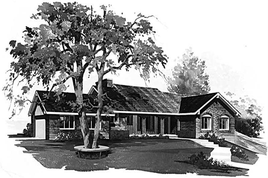 5-Bedroom, 2260 Sq Ft Country Home Plan - 137-1648 - Main Exterior