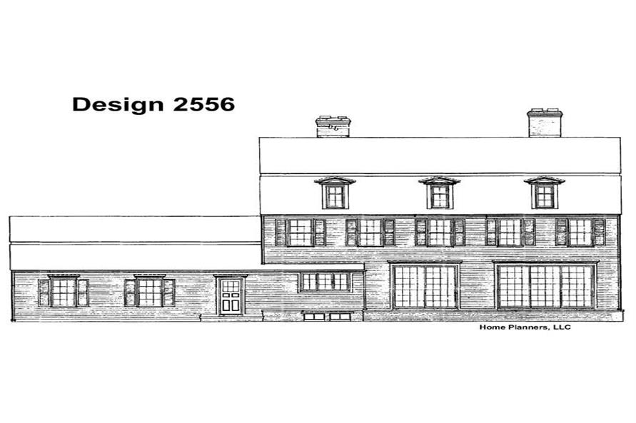 Home Plan Rear Elevation of this 3-Bedroom,3147 Sq Ft Plan -137-1650
