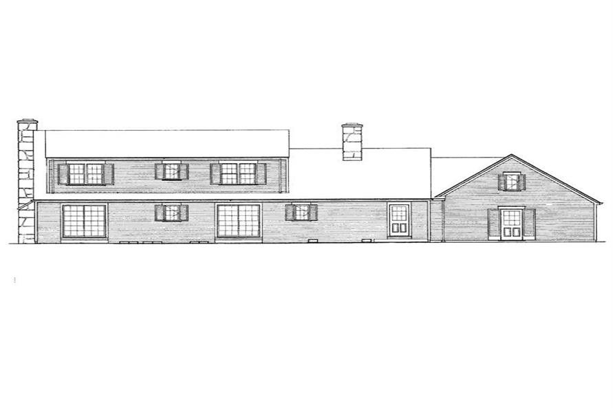 Home Plan Rear Elevation of this 3-Bedroom,2612 Sq Ft Plan -137-1658