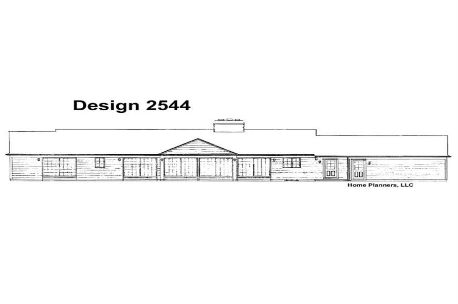 Home Plan Rear Elevation of this 4-Bedroom,2527 Sq Ft Plan -137-1659