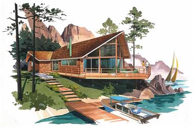 4-Bedroom, 1312 Sq Ft Contemporary Home Plan - 137-1663 - Main Exterior