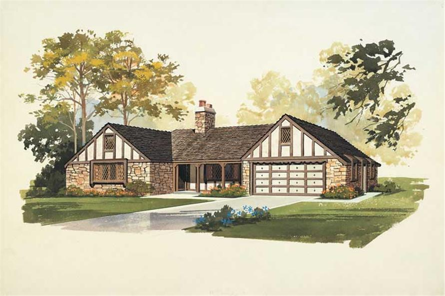 3-Bedroom, 1769 Sq Ft European Home Plan - 137-1665 - Main Exterior