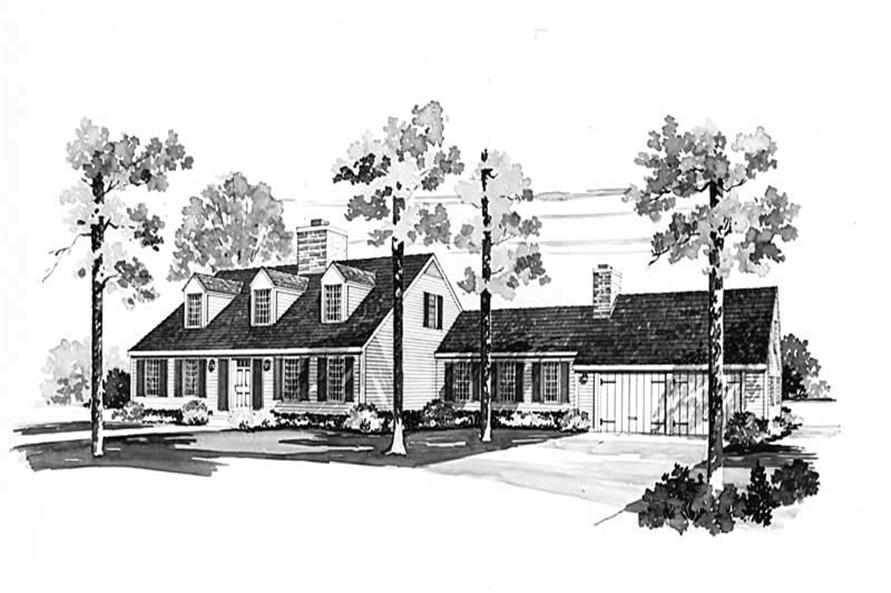 3-Bedroom, 2609 Sq Ft Cape Cod House Plan - 137-1666 - Front Exterior