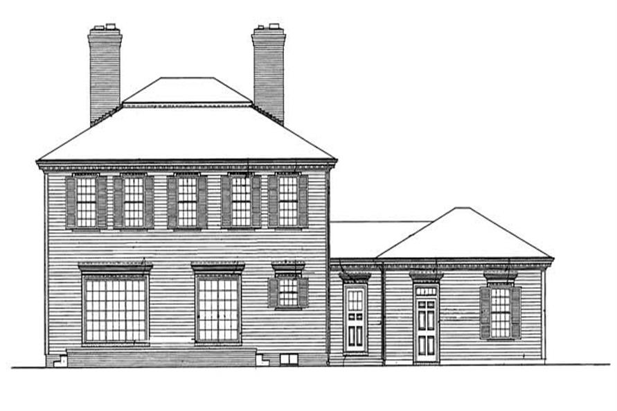Home Plan Rear Elevation of this 4-Bedroom,2984 Sq Ft Plan -137-1676
