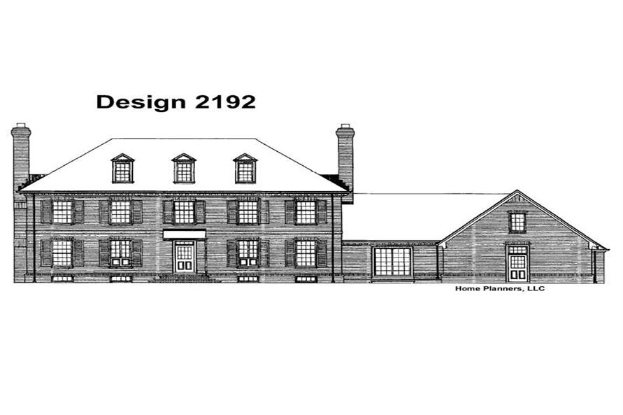 Home Plan Rear Elevation of this 3-Bedroom,3405 Sq Ft Plan -137-1677
