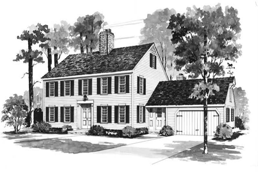 4-Bedroom, 2720 Sq Ft Colonial House Plan - 137-1680 - Front Exterior