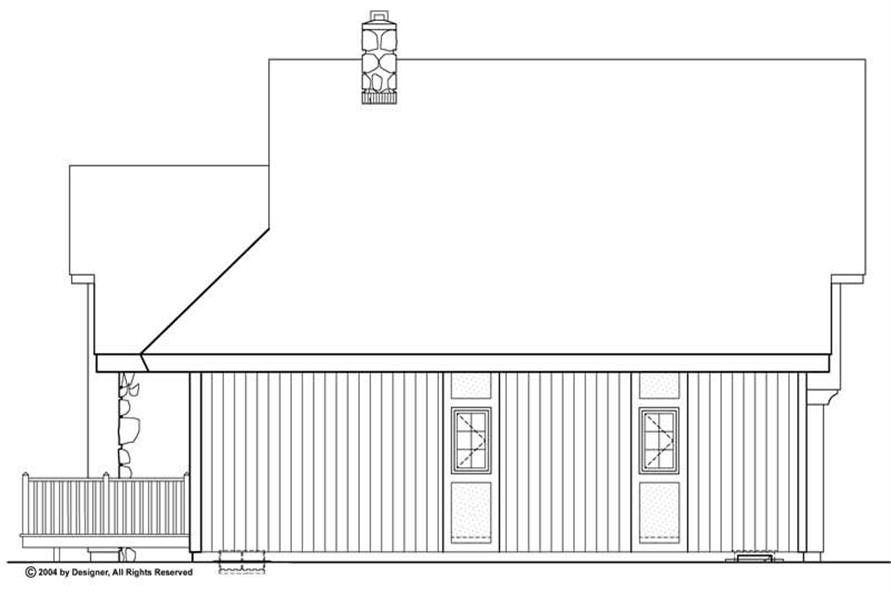 Home Plan Rear Elevation of this 3-Bedroom,1656 Sq Ft Plan -137-1682