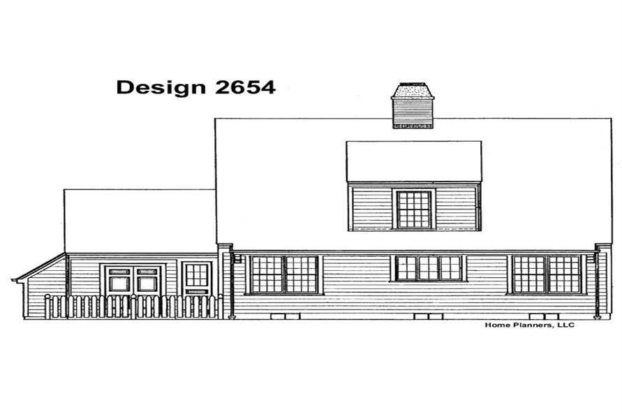 Home Plan Rear Elevation of this 3-Bedroom,1996 Sq Ft Plan -137-1684