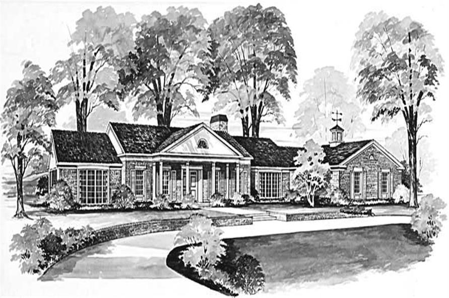 4-Bedroom, 3850 Sq Ft Country House Plan - 137-1686 - Front Exterior