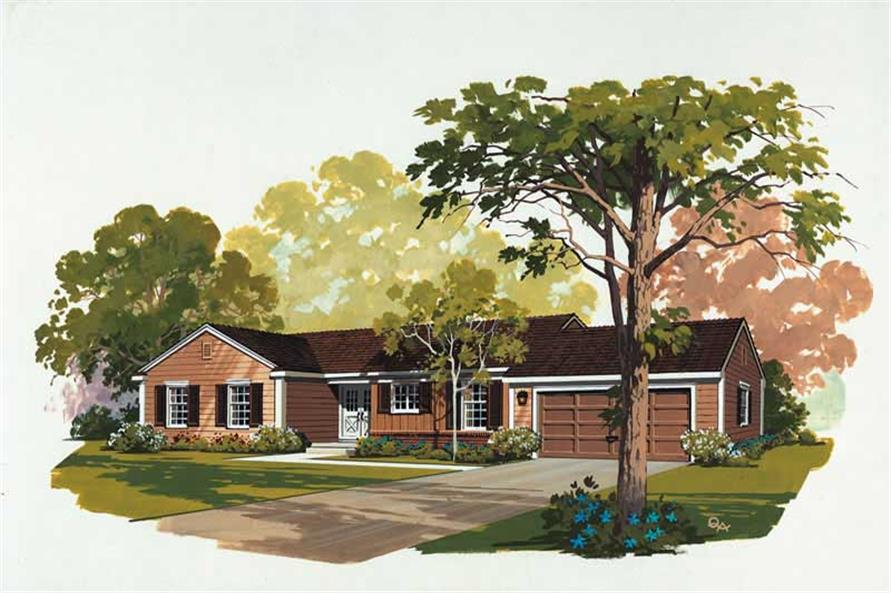 3-Bedroom, 1515 Sq Ft Ranch Home Plan - 137-1689 - Main Exterior