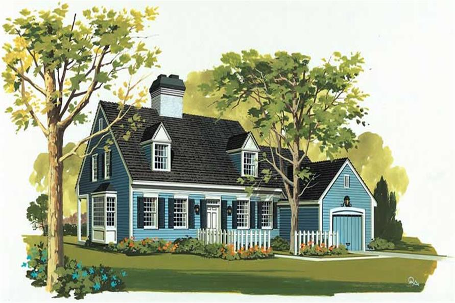 3-Bedroom, 2085 Sq Ft Cape Cod Home Plan - 137-1690 - Main Exterior