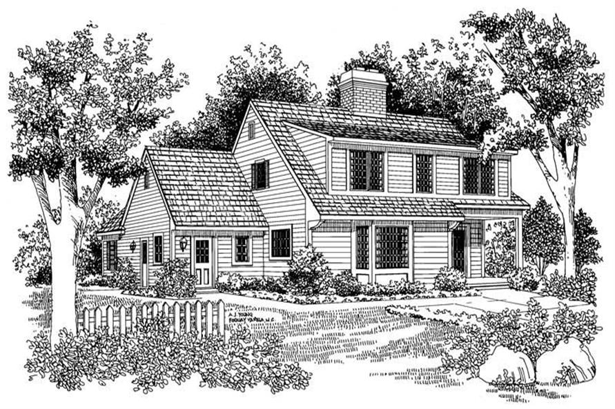 Home Plan Rear Elevation of this 3-Bedroom,2085 Sq Ft Plan -137-1690
