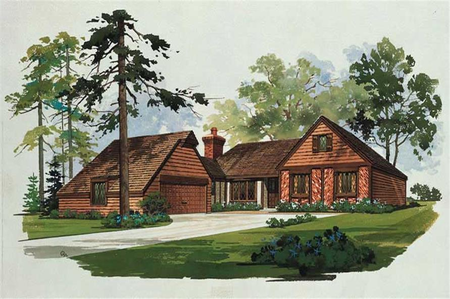 3-Bedroom, 1499 Sq Ft European House Plan - 137-1691 - Front Exterior
