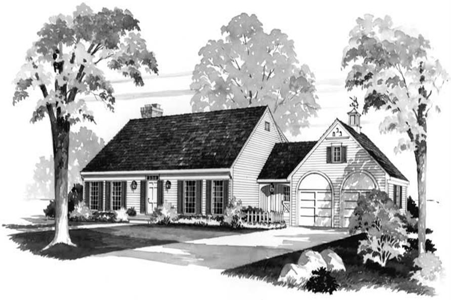 3-Bedroom, 2471 Sq Ft Cape Cod Home Plan - 137-1692 - Main Exterior