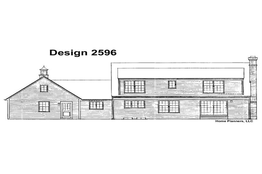 Home Plan Rear Elevation of this 3-Bedroom,2471 Sq Ft Plan -137-1692
