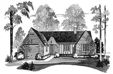 2-Bedroom, 1208 Sq Ft European Home Plan - 137-1694 - Main Exterior