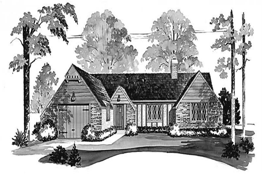 2-Bedroom, 1208 Sq Ft European Home Plan - 137-1694 - Main Exterior