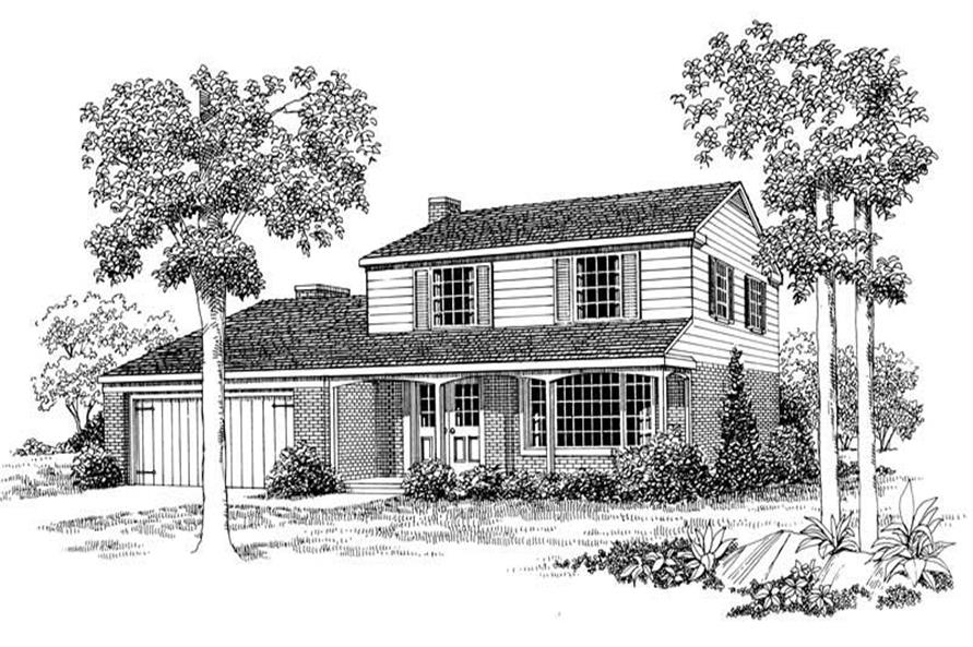 4-Bedroom, 1718 Sq Ft Country House Plan - 137-1696 - Front Exterior