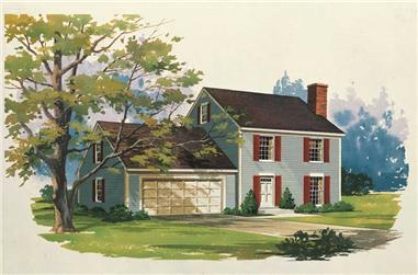 3-Bedroom, 1400 Sq Ft Cape Cod House Plan - 137-1698 - Front Exterior