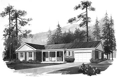 3-Bedroom, 1557 Sq Ft Ranch House Plan - 137-1700 - Front Exterior