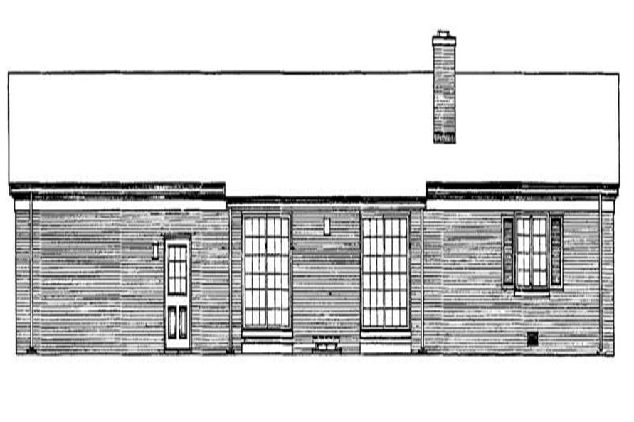 Home Plan Rear Elevation of this 3-Bedroom,1557 Sq Ft Plan -137-1700