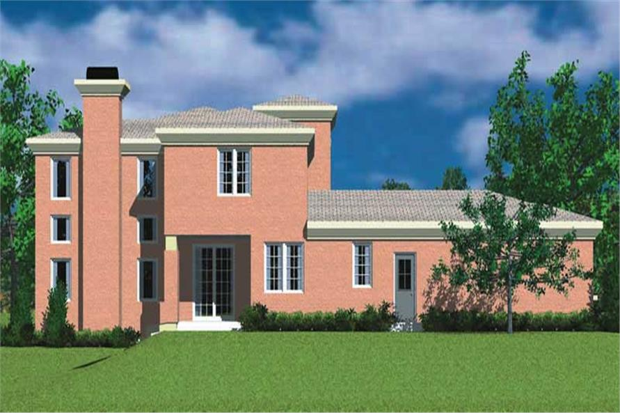 Home Plan Left Elevation of this 4-Bedroom,2277 Sq Ft Plan -137-1701